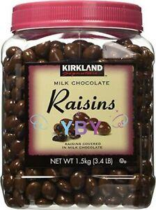 Kirkland Signature Milk Chocolate Covered Raisins 3.4 LB