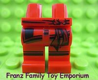 New LEGO Ninjago Kai Minifig LEGS Dark Red/Black Sash Knee Stripes Ninja Warrior