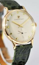 IMPECCABLE VINTAGE GIRARD PERREGAUX MANUAL WIND 18K SOLID ROSE GOLD GENTS WATCH