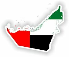 Sticker Silhouette United Arab Emirates Map Flag Bumper Guitar Locker Tablet