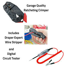 Ratchet Insulated Crimper Pliers Electrical Wire Stripper Digi Circuit Test set