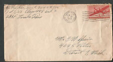 WWII cover A/C Don Prentiss 1st GSS Class 44-8 Army Air Force Field Laredo TX