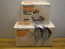 Vintage Second Nature WHISPER Power Filter w/ Bio-Bag Filters Lot New/old Stock