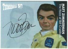 Thunderbirds 50 Years Auto Card MZ2V Matt Zimmerman Voice of Bill Craddock