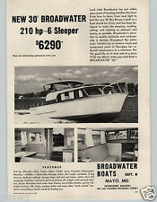 1963 PAPER AD 30' Bay Breeze3 Broadwater Boats Mayo MD Maryland 210 HP Chrysler