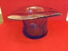 Murano Glass vase in the style of a top hat