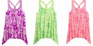 NEW NWT JUSTICE LUAU LOOSE PLUS FLOWY TANK TOP SHIRT GIRLS JUNIORS GIFT 18 20