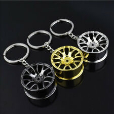 New Creative Wheel Hub Rim Model Man's Keychain Car Key Chain Cool Keyring Gift