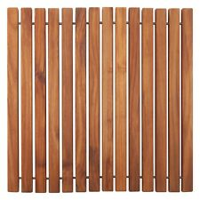 Oiled, Non-Slip Teak String Shower/Bath/Outdoor/Indoor Mat 19.6″ x 19.6″