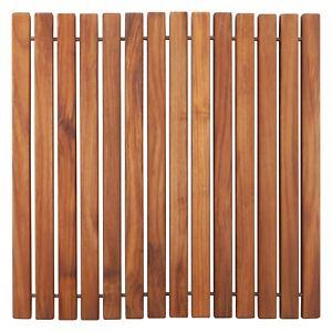 Oiled, Non-Slip Teak String Shower/Bath/Outdoor/Indoor Mat 19.6″ x 19.6″