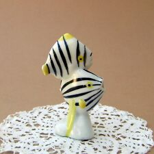 Vintage Porcelain Hungarian Hollohaza ART DECO FISH Handpainted Old Marked Rare