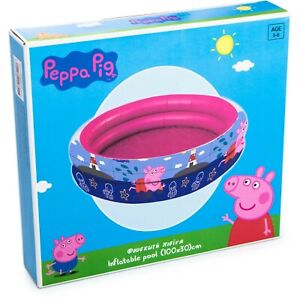Official Peppa Pig Inflatable Pool Swimming Age 3 + Fun Outdoor Activities