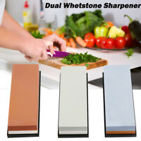 Double Sided Whetstone Knife Sharpener Water Wet Stone Sharpening Kitchen Tool
