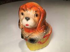 Vintage Chalkware Circus Carnival Prize Dog Figurine Toy Cocker Spaniel