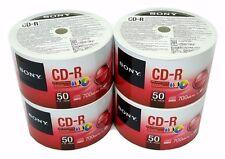 200 SONY Blank CD-R CDR White Inkjet Printable 48X 700MB Recordable Media Disc