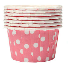 100X Cupcake Wrapper Paper Cake Case Baking Cups Liner Muffin Pink SH W2S4 P3C4