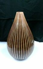 Stunning Large Round, Turned Wooden Vase, A real Statement Piece of home decor