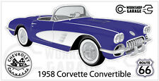 Chevrolet Corvette 1958 Convertible  Sticker - Purple