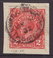 Tasmania LOWER TURNERS MARSH 1932 postmark on 1d KGV rated R by Hardinge