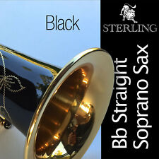 STERLING BLACK Bb SWSP-01 Straight Soprano Sax •  New Saxophone • With Case •