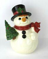 "VINTAGE CERAMIC SNOWMAN CHRISTMAS COOKIE JAR 15"""
