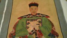 Reproduction sur toile d'un couple d'ancêtres Chinois ou dignitaires Chinois