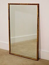 Vintage  Antique Chinese Chippendale Faux Bamboo Italian Tole Paint Mirror