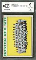 Boston Red Sox Tc Team Card 1964 Topps #579 (W/ Carl Yastrzemski) BGS BCCG 9