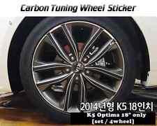 "Carbon Tuning Wheel Mask Sticker For Kia K5 ; Optima 18"" [2014]"