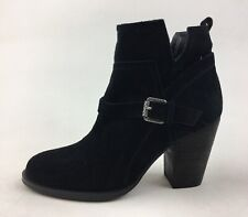 Ivanka Trump Frankly Ankle Booties Women's Size R6/L5.5 M, Black Suede 3222