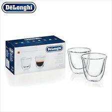 Genuine DeLonghi Espresso Double Wall Thermo Glasses Cups