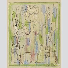 Hans Busse. Abstrakt-figürliche Zeichnung mit DaDa-Zügen.