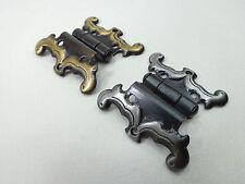 1 Paar, 2 Stück gekröpfte Scharnierbänder, Bänder, Scharniere, schwarz/ bronze