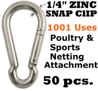 5 PCS 2, 5, 10, 20, 35, 50, 100 Packs 5//16 Zinc Plated Steel Carabiner Snap Hook