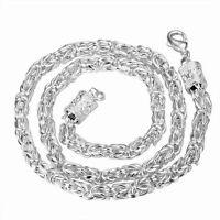 Königskette 925 er Sterling-Silber pl. 50,8 cm lang 6 mm breit Karabiner neu