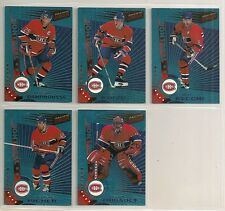 1997-98 Pacific Dynagon Ice Blue Parallel Montreal Canadiens Team Set (5)