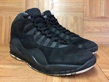 Worn🔥 Nike Air Jordan 10 X Stealth Black White Retro Sz 10.5 310805-003 Men's