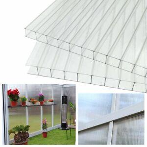 14x Hohlkammerstegplatte Doppelstegplatten 2-Fach Polycarbonat Gewächshaus 4 mm