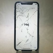 Apple iPhone XR 64GB Blue Unlocked Front/Back Cracked Display Issue - Functional