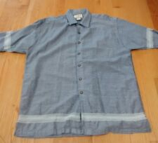 Adirondack Trading co.   Men's L Large Cotton Hiking Outdoors Button up Shirt