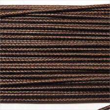 Cordon Coton Ciré 1mm – 4m Marron foncé pour Colliers et Bracelets de perles