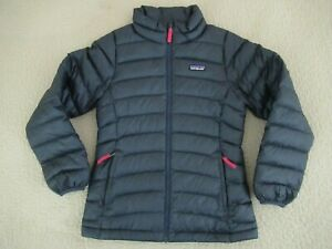 USED Patagonia Black Down Sweater Puffy Jacket; Style 68233; Kids Size 12