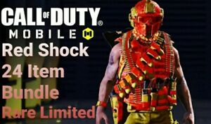 Call of Duty Mobile- Exclusive 24 Items 🔥 Limited Promo RED SHOCK EXCLUSIVE
