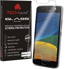 Genuine TECHGEAR Tempered Glass Screen Protector Cover for Motorola Moto G5