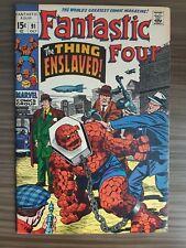 Fantastic Four 91 (1961 1st Series) F/VF 7.0 1969 Kirby ! Sinnott !