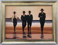 Jack Vettriano - The Billy Boys Framed Canvas Effect Print 55cm x 42cm Art