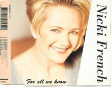 NICKI FRENCH - For all we know CDM 6TR Eurodance 1995 (DURECO) Holland