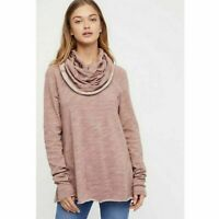 Free People Beach Cocoon Cowl Neck Pink Sweater Women's One Size=S-L