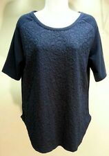 NWT $49 Style&co. Women's Blue Inc Short Sleeve Top Blouse Size: S
