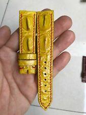 20mm GENUINE Yellow  ALLIGATOR CROCODILE HORNBACK LEATHER WATCH BAND STRAP